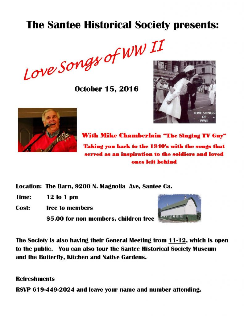 love songs of ww2 event