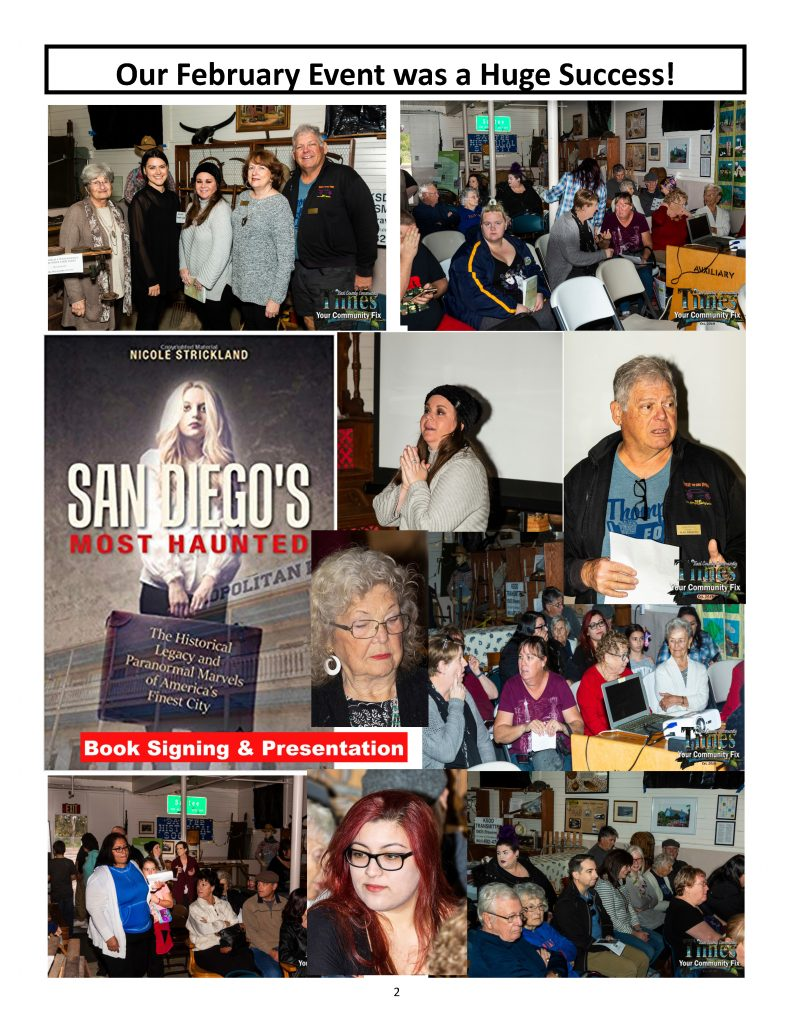 Photos from the Book signing and presentation of Nicole Strickland - author of San Diego's Most Haunted.